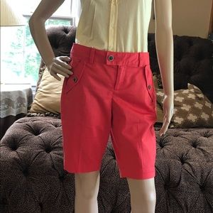 Banana Republic Shorts - Banana republic Bermuda Coral Shorts New Size 0